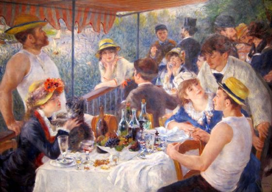 Renoir, Pierre Auguste: The Luncheon of the Boating Party. Fine Art Print/Poster. Sizes: A4/A3/A2/A1 (00181)